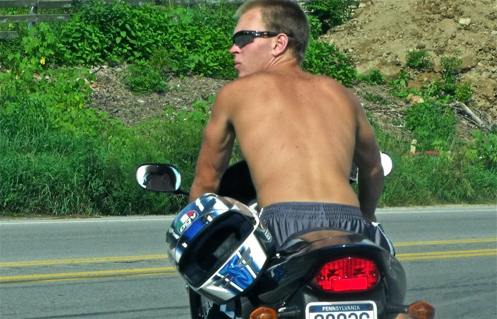 バイク暑い